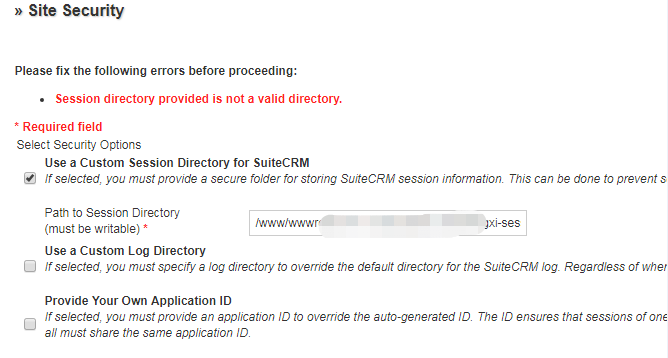 配置suiteCRM安全