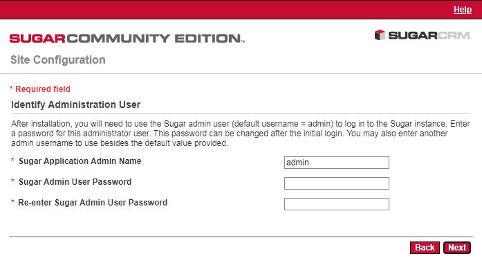 SugarCRM安装-管理员账户