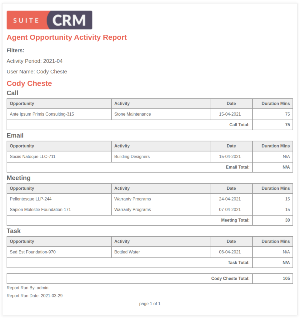 SuiteCRM Analytics V1.3