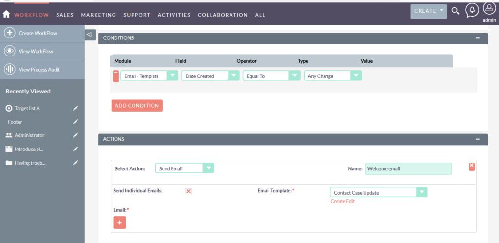 SuiteCRM 自定义工作流程